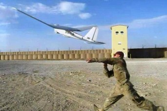 U.S. soldiers from the 3rd Battalion, 7th Infantry Regiment and 6th Squadron, 8th Cavalry Regiment, 4th Infantry Brigade Combat Team, 3rd Infantry Division, teamed up to fly their small unmanned aerial systems in order to combat the indirect fire thr...