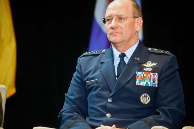 U.S. Air Force Lt. Gen. James Jackson, the chief of the Air Force Reserve, participates in the Reserve chiefs panel at the Reserve Officers Association National Security Symposium, Washington, D.C., Aug. 9, 2013.