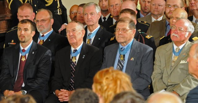 Medal of Honor Recipients Look On