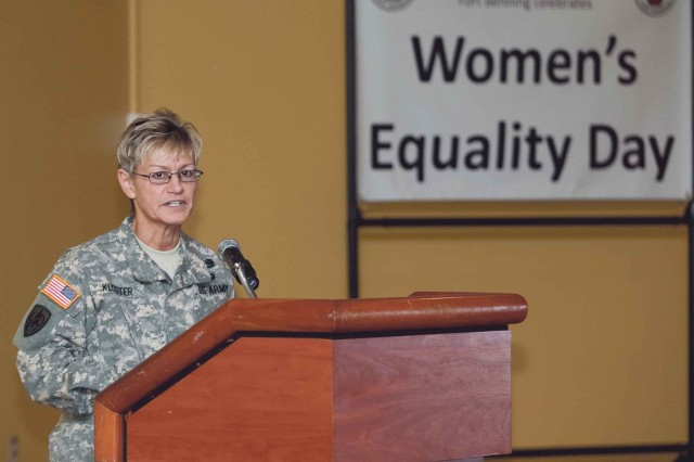 General speaks at Women's Equality Day