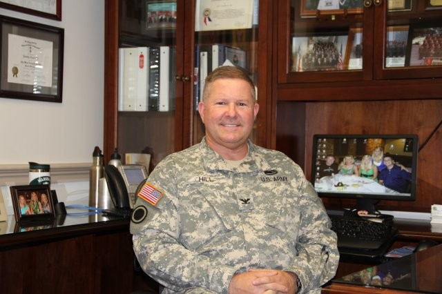Col. Timothy E. Hill, the first director of the Operational Energy, Contingency Basing Task Force for the Assistant Secretary of the Army for Installations, Energy and Environment.