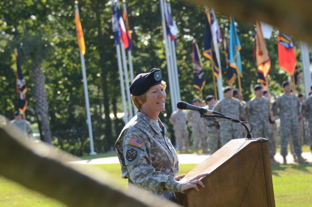 Fort Jackson's outgoing commanding general, Brig. Gen. Peggy Combs, will resume her previous role as commandant of the U.S. Army Chemical, Biological, Radiological and Nuclear School at Fort Leonard Wood, Mo.