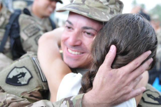 Approximately 100 Soldiers from the 268th Transportation Company, US Army Reserve-Puerto Rico, were received by a joyous group of family members at Fort Buchanan, PR,  Aug. 29, after completing a 9 months tour in Afghanistan.