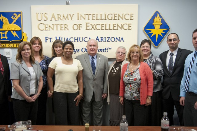 Under Secretary of the Army Joseph Westphal, Ph.D., made a visit to Fort Huachuca, Ariz., Aug. 29, 2013, to meet with garrison and United States Army Intelligence Center of Excellence leaders, Soldiers and Department of the Army civilians regarding the future of Fort Huachuca and the surrounding communities.