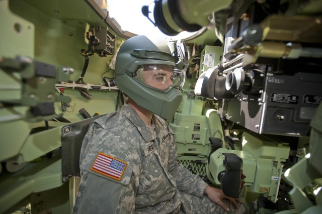 The new integrated helmet technology would eliminate the need for crew members to switch to their Army Combat Helmets when dismounting from their vehicles.