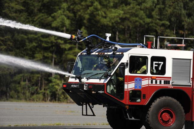 A.P. Hill firefighters conduct aircraft fire training