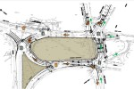 Vehicular traffic and pedestrian changes due to Muddy River project