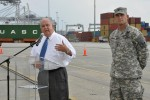Under Secretary of the Army gives press conference at Savannah port