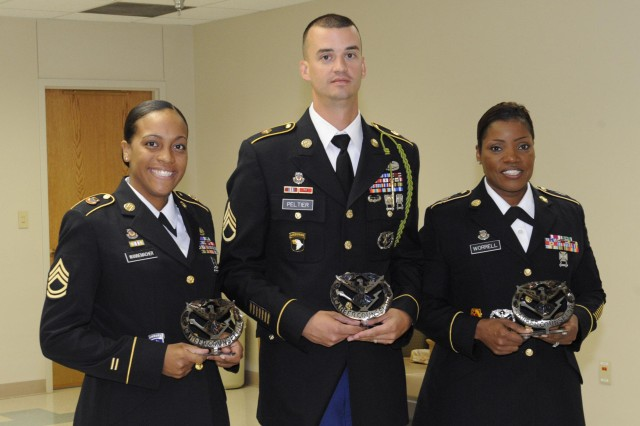 Sgt. 1st Class Carida Wannemacher, 434th Field Artillery Brigade, and Staff Sgt. Bruce Peltier, 214th Fires Brigade, were selected as the winners of the Fires Center of Excellence active component career counselor competition. Sgt. 1st Class Lesa Worrell, Headquarters Detachment FCOE, was selected as the Reserve component career counselor of the year.