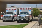 Ambulances stand ready at CRDAMC Emergency Department