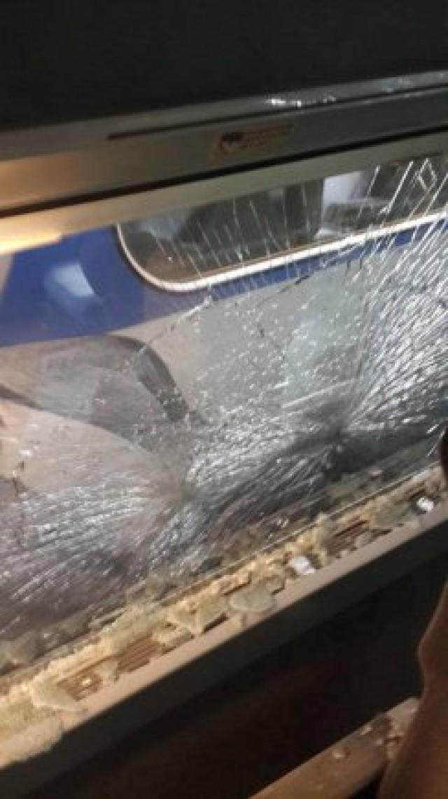 Broken Glass from a KTX Passenger Car