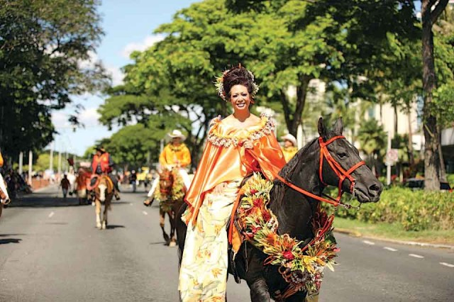 WAIKIKI - More than 50 participating groups, including a colorful equestrian procession of pā'ū units representing each of the major Hawaiian Islands, will participate in this year's 67th annual Aloha Festivals Floral Parade, Saturday, Sept. 28.