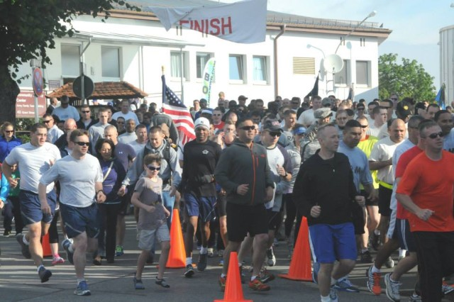 Hohenfels Military Community members pay tribute to those who have sacrificed so much both on and since Sept. 11, 2001, with a remembrance run on the 12th anniversary of the attacks.