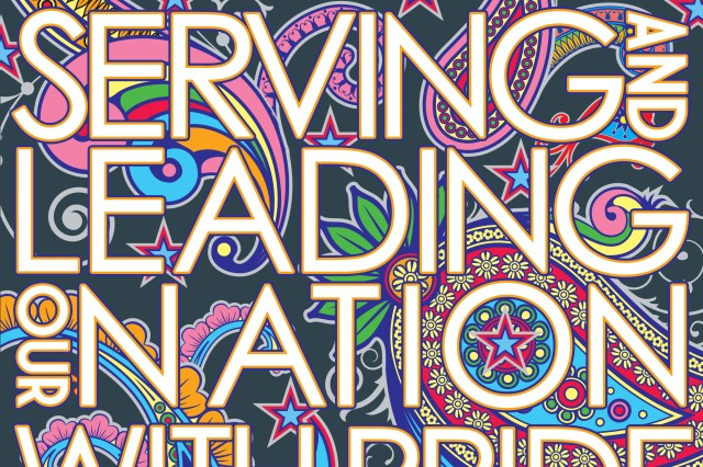 """DEOMI illustrator Mr. Peter Hemmer describes this year's Hispanic Heritage Month observance poster:   """"The inspiration for this year's Hispanic Heritage Month poster came from Latin wrought ironwork and embroidery,"""" said Mr. Hemmer. """"The interlaced shapes of iron seemed to echo interlaced stories of strength, pride and honor which are woven throughout the history of Hispanics' service to our country. The brightly colored embroidery patterns inspired me by their vibrancy and movement,"""" he said while describing the background for the poster."""