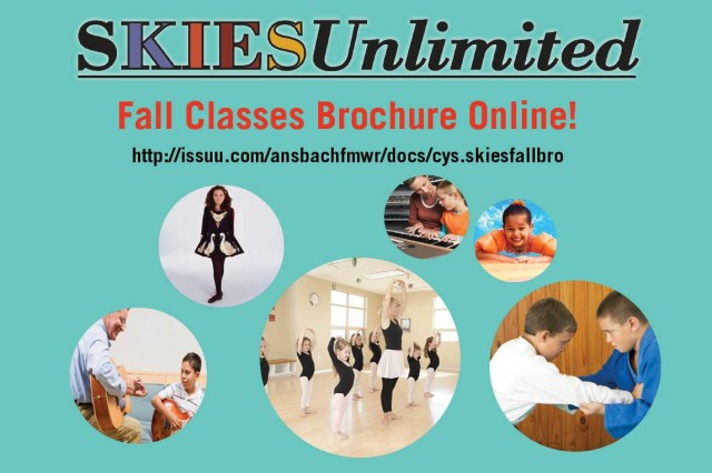 The SKIESUnlimited fall classes brochure is available now at http://issuu.com/ansbachfmwr/docs/cys.skiesfallbro.