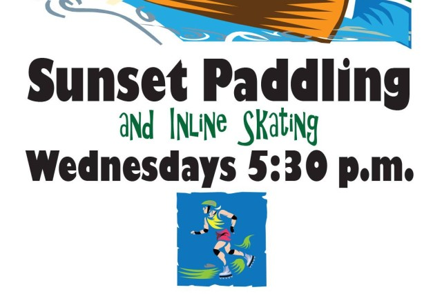 Outdoor Recreation hosts sunset paddling and inline skating Wednesdays at 5:30 p.m. for $25 for adults, $15 for children and $59 for families. The evening usually includes time for dinner at a local Imbiss on the river. No experience is necessary and there is no white water. To sign up, call 09802-83-3225.