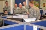 Maj. Gen. Richardson visits 595th Transportation Brigade