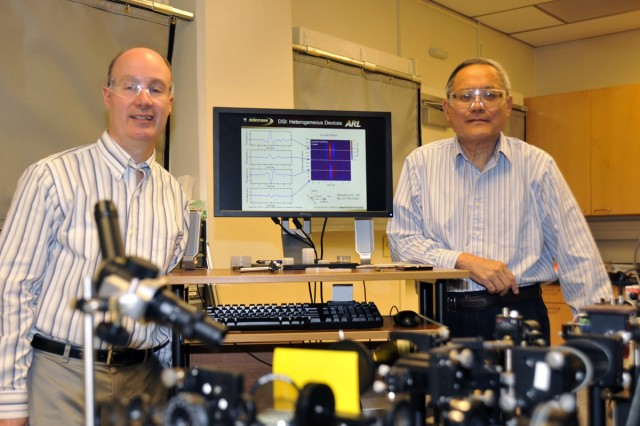 Dr. Michael Wraback and Dr. Paul Shen, researchers at the U.S. Army Research Laboratory's Adelphi Laboratory Center in the Sensors and Electron Devices Directorate, have developed and successfully tested new ways of generating THz emissions.