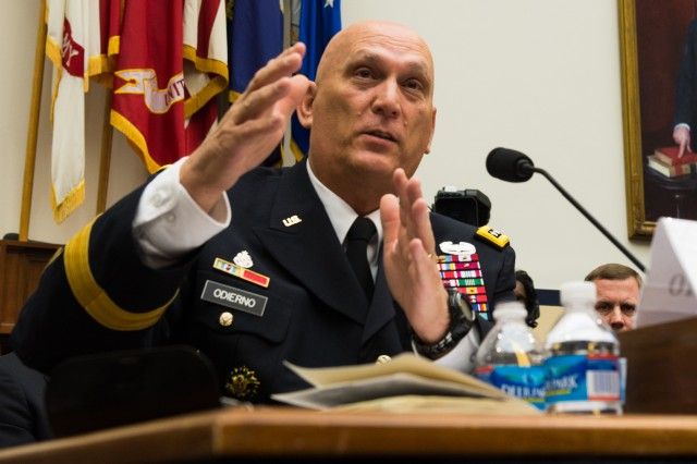 Army Chief of Staff Gen. Ray Odierno testifies before the House Armed Services Committee, in Washington, D.C., Sept. 18, 2013, on the anticipated impact on the Army of the Budget Control Act and sequestration in fiscal year 2014.