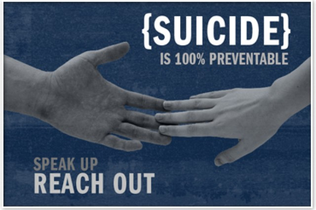 U.S. Army Garrison Grafenwoehr's Suicide Stand Down will take place Sept. 25 on Tower Barracks. Tenant units and organizations will participate in a terrain walk, visiting numerous organizations to obtain information in a community-wide effort to build resiliency and prevent suicide.