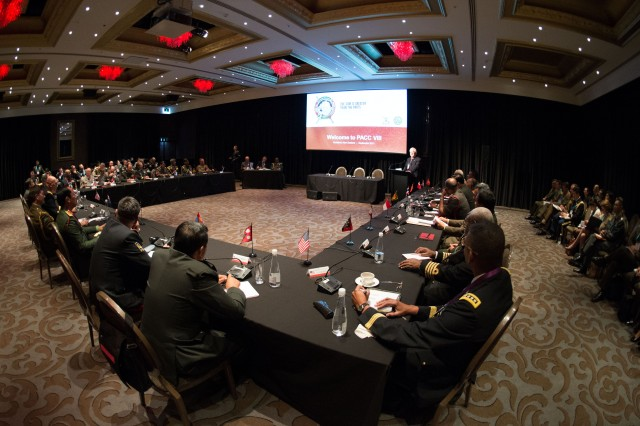 "Senior military officers participate in a multilateral conversation about ""Advancing the Unity of Effort in United Nations Peace Operations"" during the Pacific Armies Chiefs Conference in Auckland, New Zealand Sept. 9, 2013. (U.S. Army photo by Staff Sgt. Teddy Wade/ Released)"