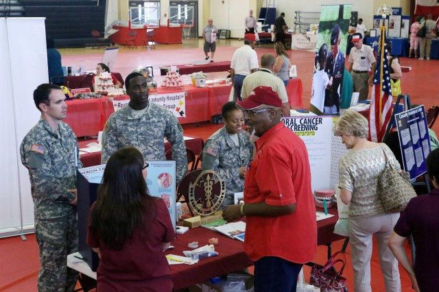 About 350 people attend the Fort Sill Retiree Appreciation Day open house that featured 61 vendors Sept. 19, 2013, at the Rinehart Fitness Center. The open house was just one of the activities over three days to celebrate military retirees and their  spouses.