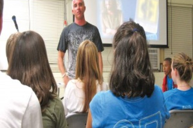 SCHOFIELD BARRACKS, Hawaii -- Instructor Kevin Knight leads a youth class during a 2012 Family Resiliency Night, here.