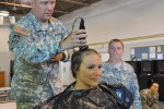Indiana Guardsman shaves head for cancer charity
