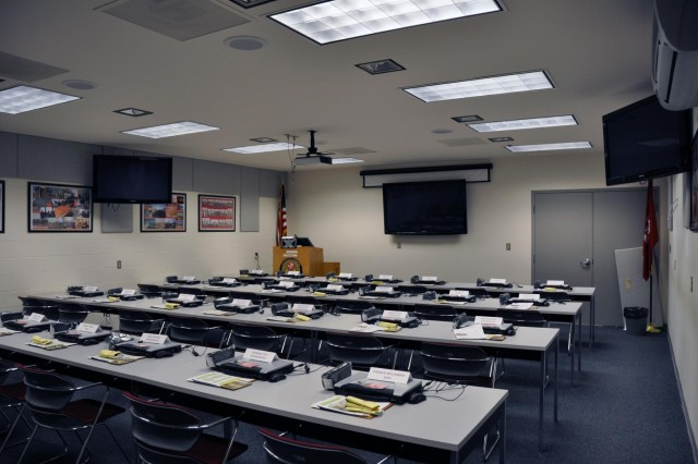 One of the UDC training rooms where more than 12,000 people began their deployments.