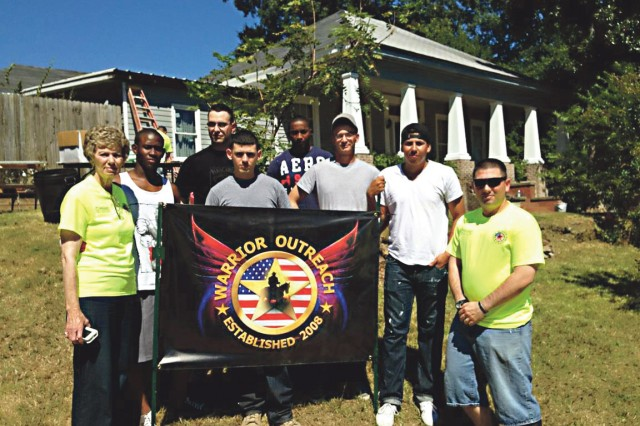 Soldiers of the 2nd Battalion, 69th Armor Regiment volunteered to participate in a Warrior Outreach home repair project in Phenix City Sept. 14.