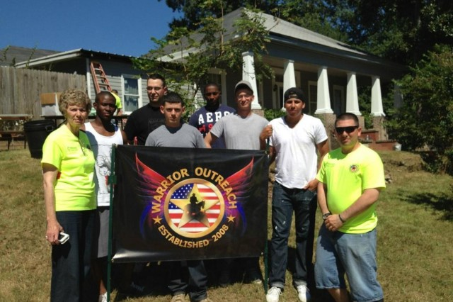 Soldiers of the 2nd Battalion, 69th Armor Regiment, 3rd Armored Brigade Combat Team, 3rd Infantry Division, volunteered to participate in a Warrior Outreach home repair project in Phenix City, Ala., Sept. 14.