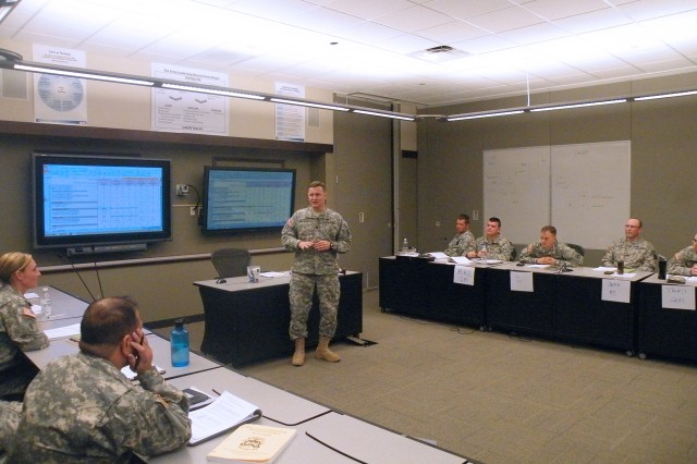 P934 co-developer Lt. Col. Ray Ferguson discusses the benefits of using automated planning tools for sustainment planning during a P934 course.