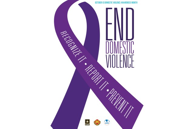 The U.S. Army Installation Management Command is making a concerted effort during Domestic Violence Awareness month to highlight their resources and strike a chord of resiliency on Army garrisons. The Family Advocacy Program is a congressionally mandated program intended to prevent and reduce the occurrence of family violence and create an environment of intolerance for such behavior.