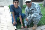 Staff Sgt. Rameriz, Jr. and his Son