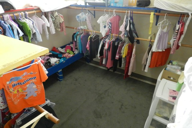 Children's clothing is a highly sought-after item at Turnaround Point. The store not only contains children's clothing but adult civilian clothing and shoes as well.