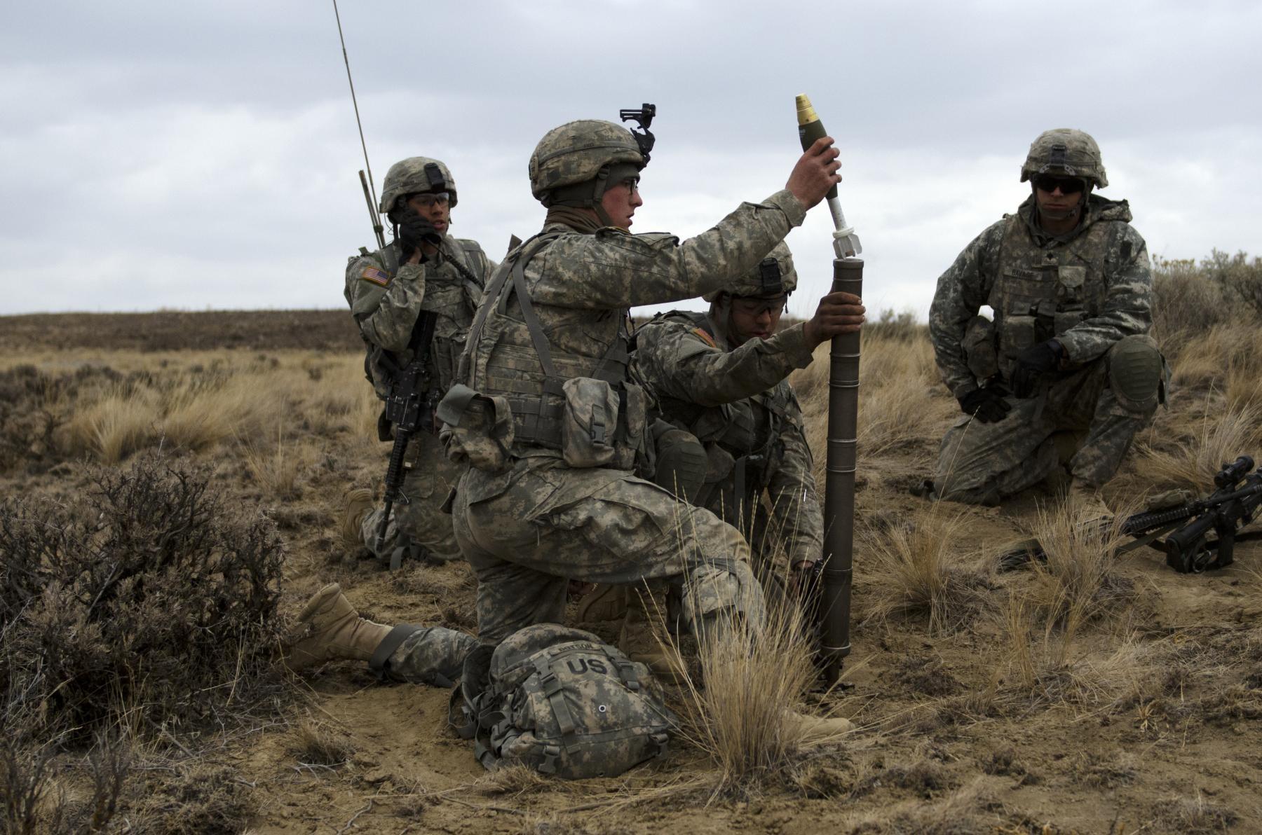 U S Army Heavy Mortar Platoon : Tomahawks mortar platoon trains for conventional fight