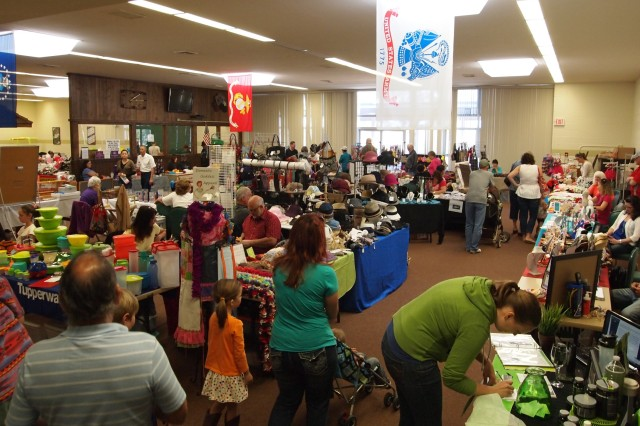 Shoppers take the opportunity to visit the first annual Fall Bazaar at Murr Community Center Oct. 12-13. Forty vendors displayed a variety of goods, many were hand made and holiday inspired.