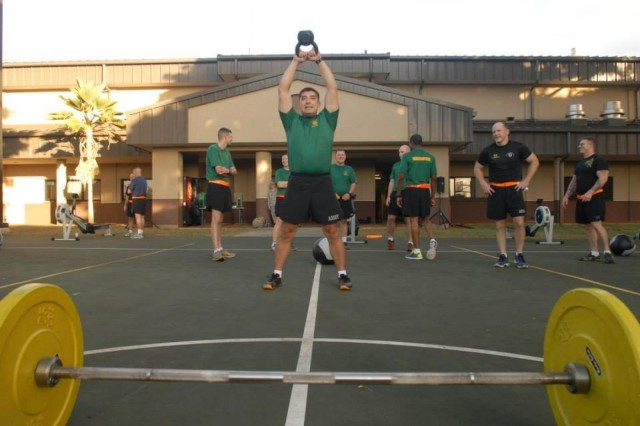 Company commanders participate in 8th TSC Crossfit Challenge
