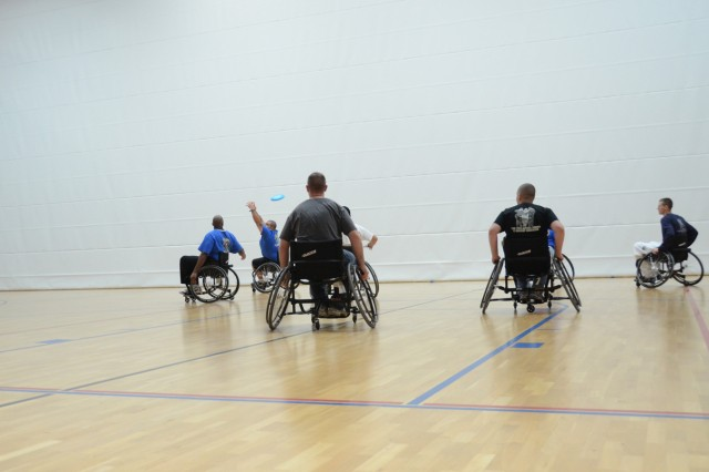 Soldiers vie for the coveted Commander's Cup during a round of adaptive sports.