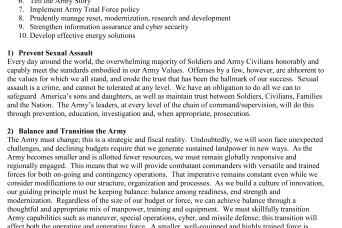 Secretary of the Army Top Priorities | Article | The ...