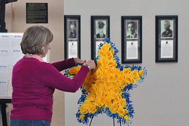 At the beginning of the ceremony in 2011, the wreath was incomplete. After several Gold Star Families, such as Rebecca Ponder, placed yellow roses on the wreath in remembrance of lost loved ones in combat, it quickly filled to capacity. This year's wreath laying ceremony will be held at Division Headquarters, Wednesday at 4 p.m.