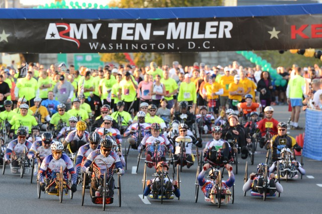 Wounded warriors inspire at Army Ten-Miler