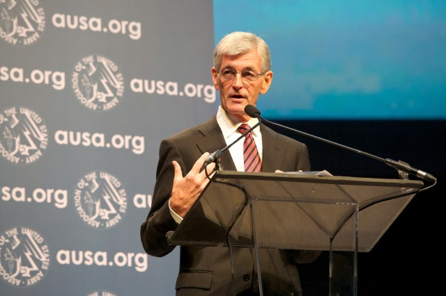 "Secretary of the Army John M. McHugh said budget cuts, sequestration and continuing resolutions have exacted ""great cost"" on Army readiness, during remarks at the 2013 Association of the United States Army Annual Meeting and Exposition, in Washington, D.C."