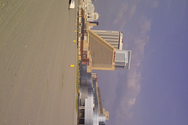Completed beach restoration at Atlantic City, N.J.
