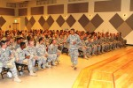 US Army Pacific senior enlisted leader conducts town hall meeting with Soldiers in Japan