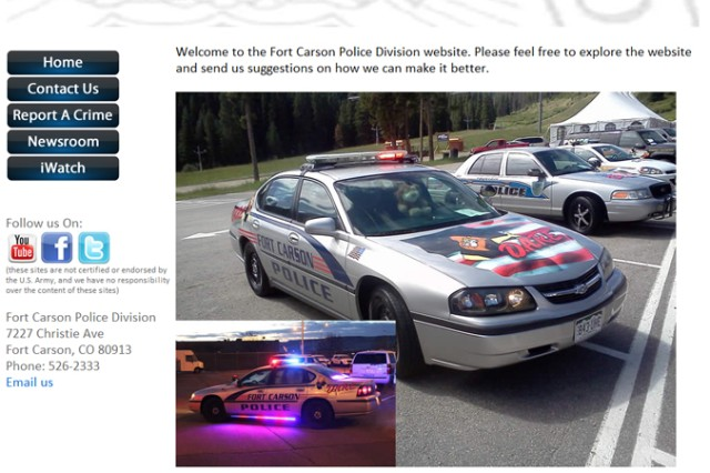 Fort Carson police website offers convenience