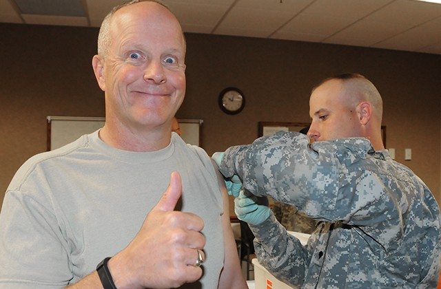 Flu vaccinations start for military