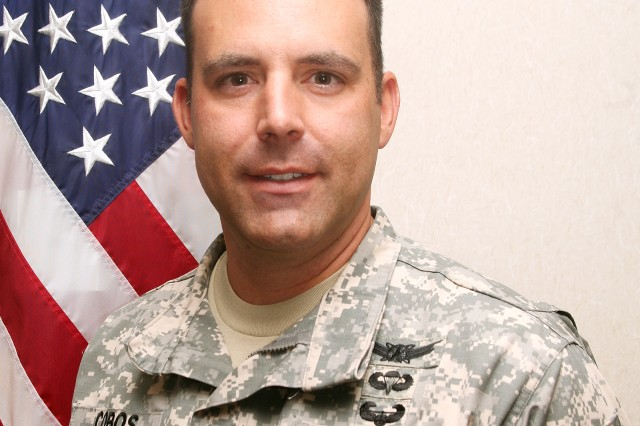 Maj. Mark A. Cobos serves as the aid-de-camp to the commanding general of U.S. Army Space and Missile Defense Command/Army Forces Strategic Command.
