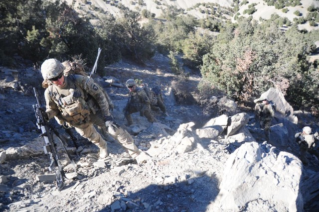 Currahees and Afghan National Army conduct a joint patrol