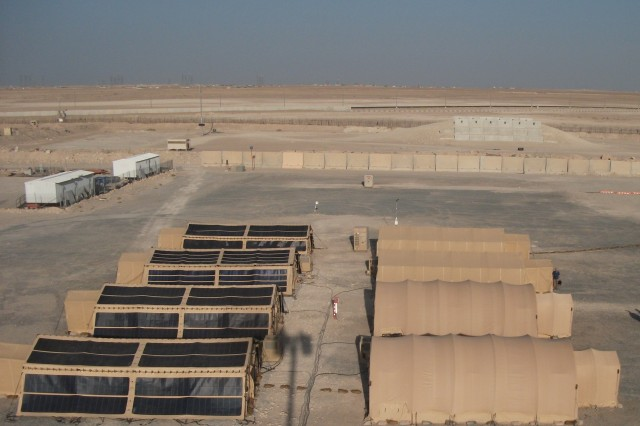 "A group of shelters were sent to the Southwest Asia Area of Responsibility to be tested by both the Army and Air Force recently as part of the ""Advanced, Energy-Efficient Shelter Systems for Contingency Basing and Other Applications"" program. Tents were outfitted with advanced materials and other technology."
